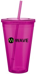 Spirit 24 oz Double Wall Acrylic Tumbler with straw