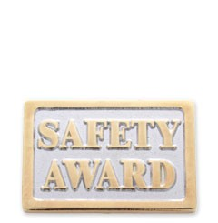 safety award stock lapel pin with military clutch src03