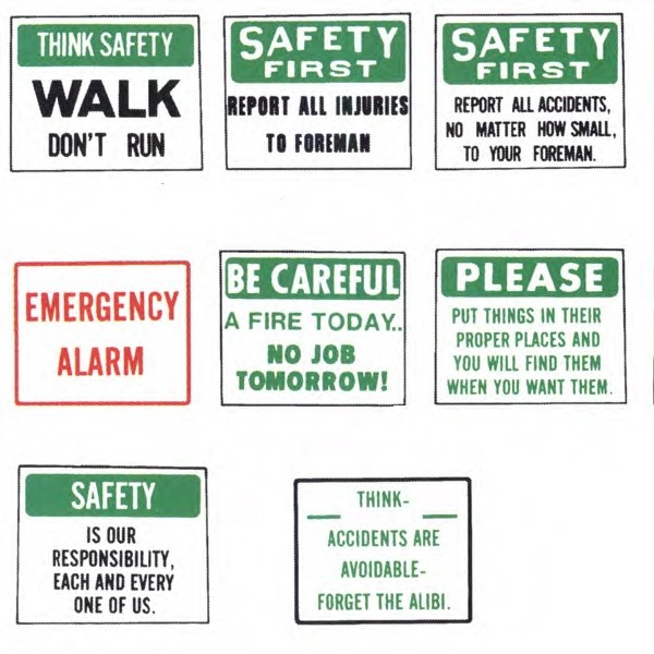 Safety Messages for Employee Signs