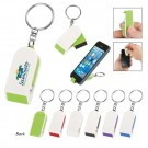 Phone stand and screen cleaner combo keychain - 189