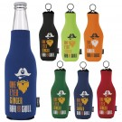 Neoprene Zip-Up Bottle Koozie Kooler - 46105