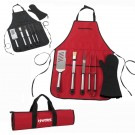 6 piece Barbeque Tool Set Apron - B05