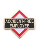 Accident Free Employee Stock Safety Lapel Pin with military clutch