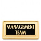 Management Team Stock Lapel Pin with military clutch