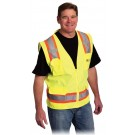 Two Tone 6 Pocket Surveyors Vest - HV02