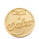 Circle of Excellence Stock Lapel Pin with military clutch - SRJ01