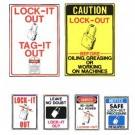 Lock-it out Tag-it out Signs