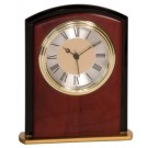 "6 1/2"" Mahogany Finish Square Arch Clock"