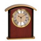 "6 1/2"" Mahogany Finish Gold Top Clock"