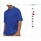 Men's Moisture Wicking Microfiber Textured Jersey Polo - PGM
