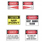 Machine & Equipment Decal Signs